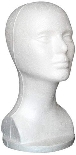 andy cool Female Styrofoam Hat Glasses Hair Wig Mannequin Stand Display Head Model