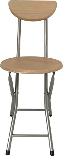 Wee's Beyond 1212-BC Folding Wooden Stool with Back, Beech by Wee's Beyond