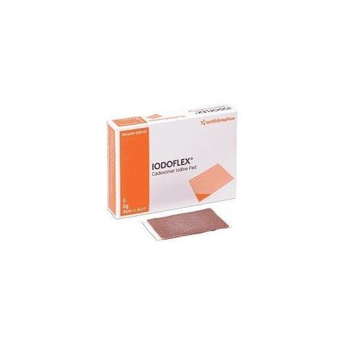 Smith & Nephew Iodoflex cadexomer iodine PAD 5 Gram Pads 4cm X 6cm 5/Pk (Iodoflex Pad)