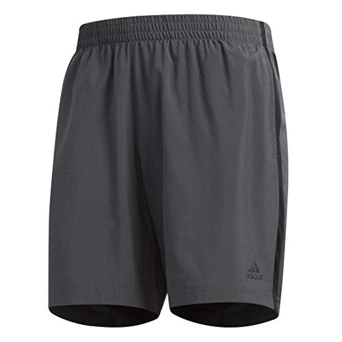 adidas Men's Own The Run Shorts, Grey/Black, L