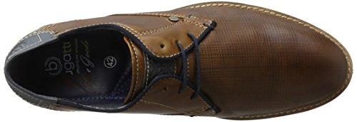 Bugatti 312111121200, Zapatos de Cordones Derby para Hombre Marrón (Cognac 6300)