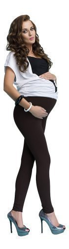 Comfy Maternity Cotton Front Panel Over Bump Full Ankle Length Leggings