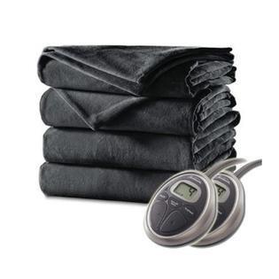 Sunbeam lujo Premium eléctrico climatizada manta de felpa, apagado automático, 20 ajustes de calor