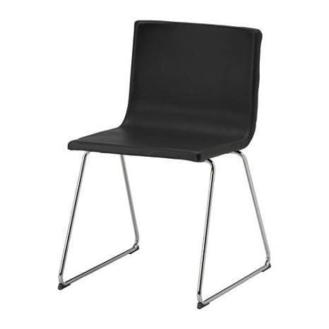 Ikea Bernhard Chaise De Bureau Chrome Cuir Noir Marron