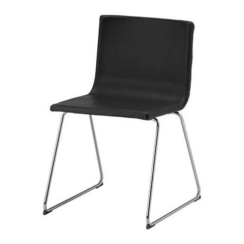 Drehstuhl esszimmer ikea  IKEA BERNHARD Stuhl, Chrom / Leder, SCHWARZBRAUN: Amazon.de: Küche ...