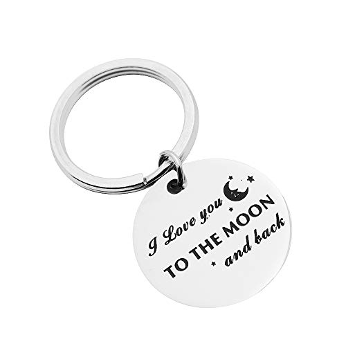(Huiuy I Love You to The Moon and Back Love Pendant Keychain Birthday Gifts for Best Friend (to The Moon and Back))