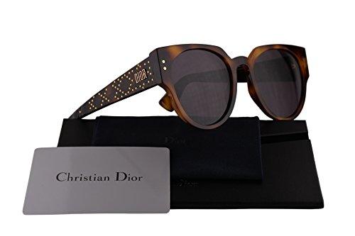 Christian Dior LadyDiorStuds3 Sunglasses Dark Havana w/Grey Lens 52mm 086UR LadyDiorStuds3/S Ladydiorstuds3 Lady Dior Studs 3 LadyDiorStuds (Dior Sunglasses Brown Lens)