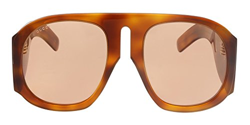 Sunglasses Oversized Round Gucci (Gucci GG0152S 005 Havana/Yellow Oversized Sunglasses for)