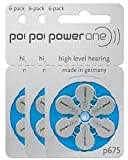 Power One Hearing Aid Battery Size P675 , 12 Pcs