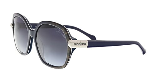 (Roberto Cavalli RC903S 92W MENKIB Blue Round Sunglasses for Womens)