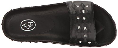 Women Sandal Flat Unique Black Ash CyUqwfX8