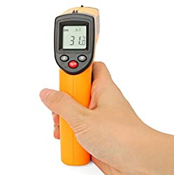 Infrared Thermometer, Non-Contact Digital Laser Infrared Thermometer Temperature Gun, Adjustable Emissivity IR Thermometer Laser Pointer Gun -58°F ~ 752°F/ -50°C ~ 400°C
