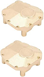 Generic 2X Brass Front Rear Axle Diff Cover for Axial SCX10 III AX103007 1/10th Scale RC Car Upgrade Accessori