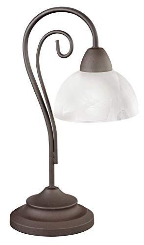 Trio R5031 Country - Lámpara de Mesa, Estilo Envejecido, 40 cm