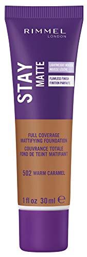 Rimmel Stay Matte Foundation, Warm Caramel, 1 Fluid Ounce
