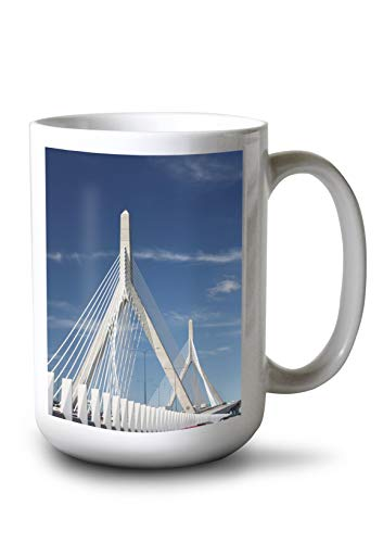 Lantern Press Zakim Bridge Boston, Massachusetts Photography A-91116 (15oz White Ceramic Mug)