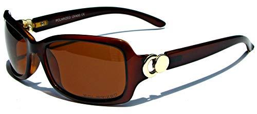 Vox Women's Polarized Sunglasses Designer Classic Chic Fashion Eyewear - Amber Frame - Amber Lens