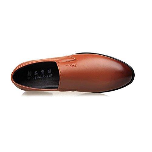 Fiesta Trabajo zapatos Mocasines De Oxfords Negocios Hombres Noche Cuero Cómoda Zapatos Marrón Para Y Suela Acentuada Formal Formales Goma nOqTYzzWw