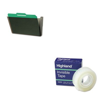 KITDEF73202MMM6200341296 - Value Kit - Deflect-o DocuPocket Stackable Wall Pocket (DEF73202) and Highland Invisible Permanent Mending Tape (MMM6200341296) -