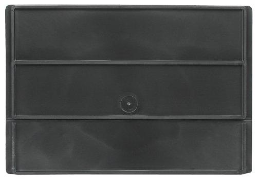 Akro-Mils 41440 Divider for 31142 AkroDrawer Plastic Storage Drawer, Black, Pack of 6