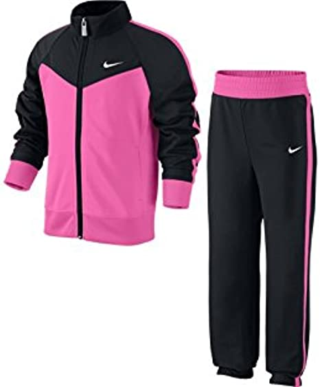 Nike T40 T Track Suit LG Chándal, Niña, Negro/Rosa/Blanco, M ...