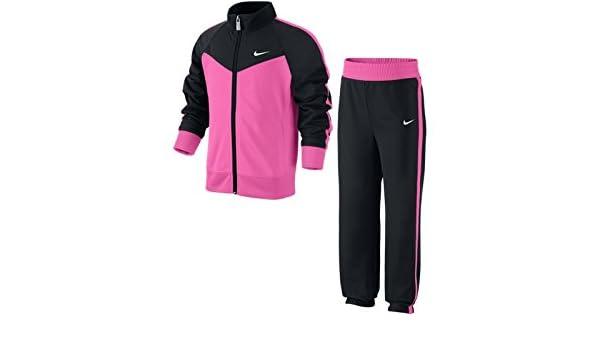 Nike T40 T Track Suit LG Chándal, Niñas, Negro/Rosa/Blanco, XL ...