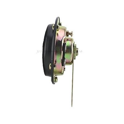 JC Performance Parts USA Universal 12v or 6v Compact Vented Motorcycle Horn Chrome or Black (6v Black): Automotive