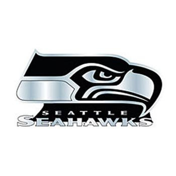 NFL Seattle Seahawks Chrome Automobile Emblem