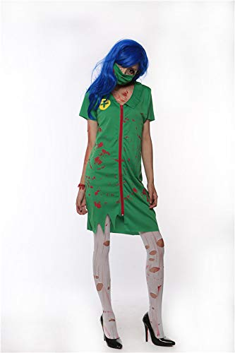 Simmia Halloween Costumes Halloween Costume Horror bloodstain Female Nurse Suit Zombie Performance Party, 1605, XL ()