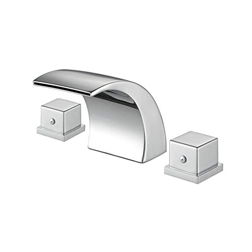Jueven Victoria Waterfall 3 Hole 2 Handles Stainless Steel Bathroom Basin Tap Bathtub -