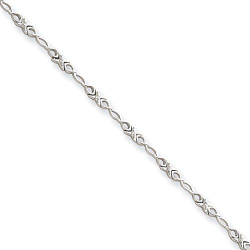 Or blanc 14 carats avec diamants bruts-JewelryWeb