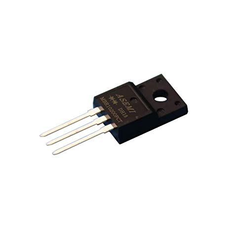 Pack of 10pcs MBR10200FCT//MBRF10200CT ASEMI ITO-220AB Package Schottky Barrier Diode 10a 200v for Transformer