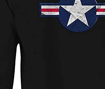 Crewneck Sweatshirt American Military Star Banner Red White Blue