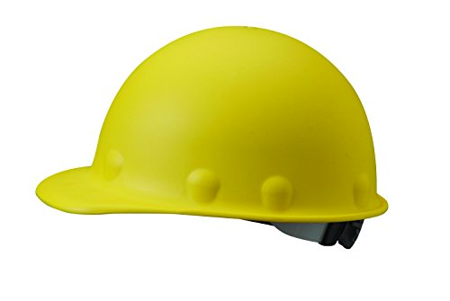 Fibre-Metal by Honeywell P2ARW02A000 Super Eight Ratchet Fiber Glass Cap Style Hard Hat, Yellow
