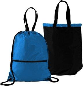 スポーツリバーシブル軽量Drawstringバックパック/トートバッグファスナー付きポケットサッカー、バレーボール、サッカー、学校で。。。) B00IJJ4LFOロイヤル/ブラック