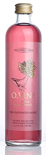 - O Vine - Wine Grape Infused Essence Water - Red Gently Sparkling - 11.8 oz (12 Glass Bottles)