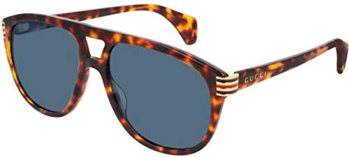 Gucci Gafas de Sol GG0525S LIGHT HAVANA/GREY hombre: Amazon ...