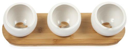 Core Bamboo 3 Part Round Bamboo/Ceramic Entertainment Set
