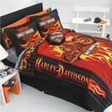 Harley Davidson Motorcycle Sheet Sets Twin Size Sheets Bedding