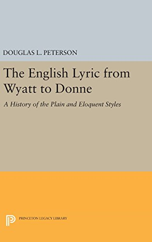 The English Lyric from Wyatt to Donne – A History of the Plain and Eloquent Styles