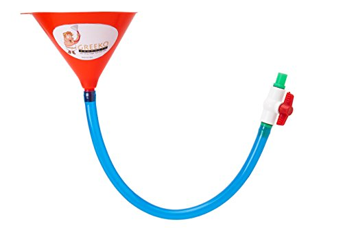 (Single Tube Beer Bong Funnel with Valve- 30