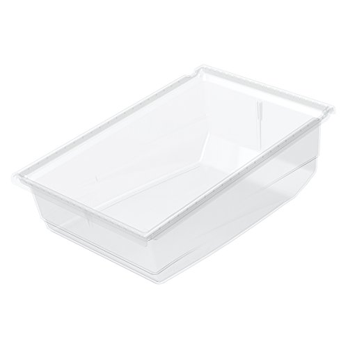 Akro-Mils 36240 17 1/2-Inch Long x 11-Inch Wide x 6 1/2-Inch Tall Plastic Universal Hanging Nesting Shelf Bin, Clear, (Akro Mills Container)