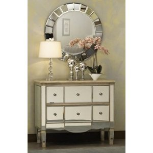 Extra Large Frameless Venetian Sunburst Round Wall Mirror - metal wall