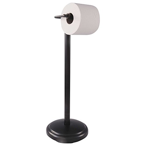 Pedestal Toilet Paper Stand - Freestanding Pedestal Toilet Paper Holder by LDR | Fits Most Size Rolls, Sturdy Base Prevents Tipping, Durable Construction, Oil-rubbed-bronze