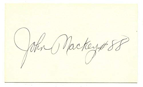 John Mackey Signed Autographed 3 X 5 Index Card Baltimore Colts ()