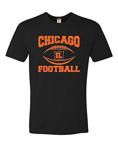 Go All Out XXXX-Large Black Adult Chicago Football Deluxe T-Shirt