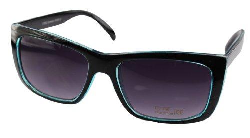 Wayfarer Lunettes style 80's Noir retro de Turquise couleurs differentes monture soleil Zqaq1gt
