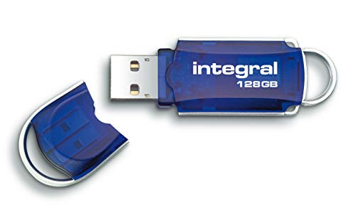 Integral INFD128GBCOU Courier 128 GB USB Flash Drive - Blue
