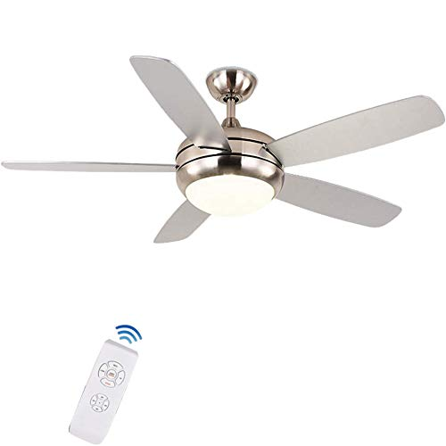 (FINE MAKER 52inch Ceiling Fan Light with Smart Remote Reversible ABS 5-Blades Warm Light Whisper Wire Motor for Living Room, Bedroom, Dinning, Meeting Room)
