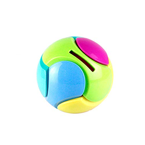 (Livoty Puzzle Ball Toy Coin Bank Piggy Bank Puzzle Game Saving Money Educational Toys Gifts (Multicolor))